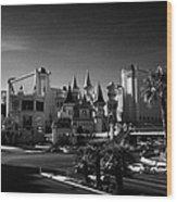excalibur hotel and casino on the Las Vegas boulevard strip Nevada USA Wood Print