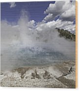 Excelsior Geyser Crater In Yellowstone National Park Wood Print