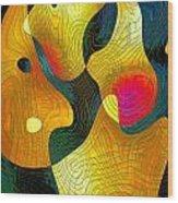 Exchange Of Views Wood Print