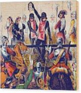 Execution Of Charles I, 1649 Wood Print
