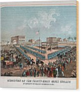 Execution Of The Thirty Eight Sioux Indians Wood Print
