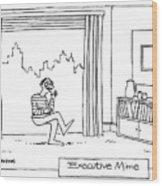 Executive Mime Wood Print