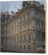 Executive Office Building Wood Print