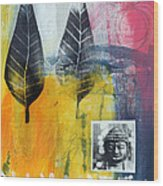 Exhale Wood Print