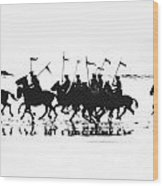 Exhibition Platoon Of The 11th U.s. Cavalry On Del Monte Beach Monterey California 1935 Wood Print