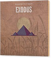 Exodus Books Of The Bible Series Old Testament Minimal Poster Art Number 2 Wood Print by Design Turnpike