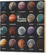 Exoplanets Wood Print