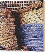 Exotic Baskets Wood Print