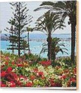 Exotic Beach Wood Print