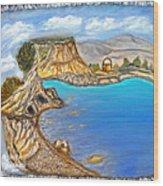 Exotic Beach Near Limassol Wood Print