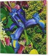 Exotic Blue Wood Print
