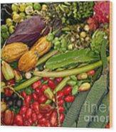 Exotic Fruits Wood Print
