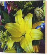 Exotic Yellow Wood Print