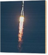 Expedition 38 Soyuz Launch Wood Print