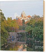 Expedition Everest At Sunset Wood Print