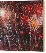 Explode Wood Print by Diana Angstadt