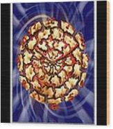 Exploding Clock Wood Print