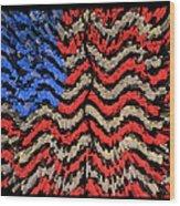 Exploding With Patriotism Wood Print by John Farnan