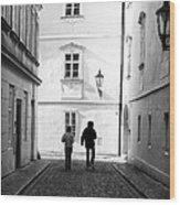 Exploring Prague Wood Print