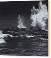 Explosion Wood Print by Mike  Dawson