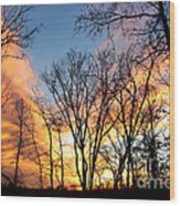 Explosion Of Color In The Sky Wood Print