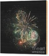Explosion Of Color On Canada Day Wood Print