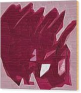 Expression Of Red Wood Print