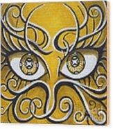 Expressive Eyes Wood Print