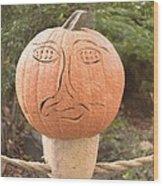 Expressive Pumpkin Wood Print