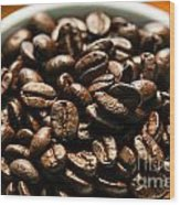 Expresso Beans Wood Print