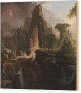 Expulsion From The Garden Of Eden Wood Print