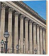 Exterior Of St Georges Hall Liverpool Uk Wood Print