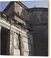 Exterior Of The Pantheon Wood Print