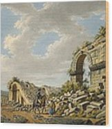 Exterior Of The Ruined Roman Theatre Wood Print