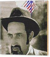Extra With Flag In Hat The Great White Hope Set Globe Arizona 1969-2008 Wood Print