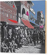 Extras The Great White Hope Set Recreation Reno Nevada July 4th 1910  Wood Print