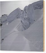 Extreme Skier Going Fast In Beautiful Wood Print