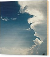 Extreme Weather On Its Way Wood Print