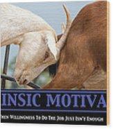 Extrinsic Motivation De-motivational Poster Wood Print