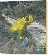 Extrude Yellow Frog Wood Print