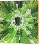 Extrusion Abstract Lime Green Wood Print