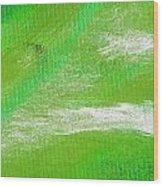 Exuberant Emerald Green Wood Print