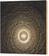 Eye At The End Of The Tunnel Wood Print