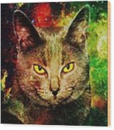 Eye Contact Wood Print by Anastasiya Malakhova