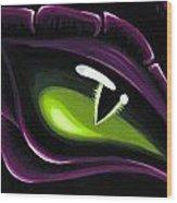 Eye Of Ena Wood Print