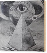 Eye Of The Dark Star - Journey Through The Wormhole Wood Print