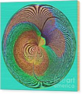 Eye Of The Peacock Orb Wood Print