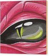 Eye Of The Rubellite Dragon Wood Print
