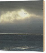 Eye Of The Storm On The San Mateo County Coast Wood Print