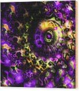 Eye Of The Swirling Dream Wood Print